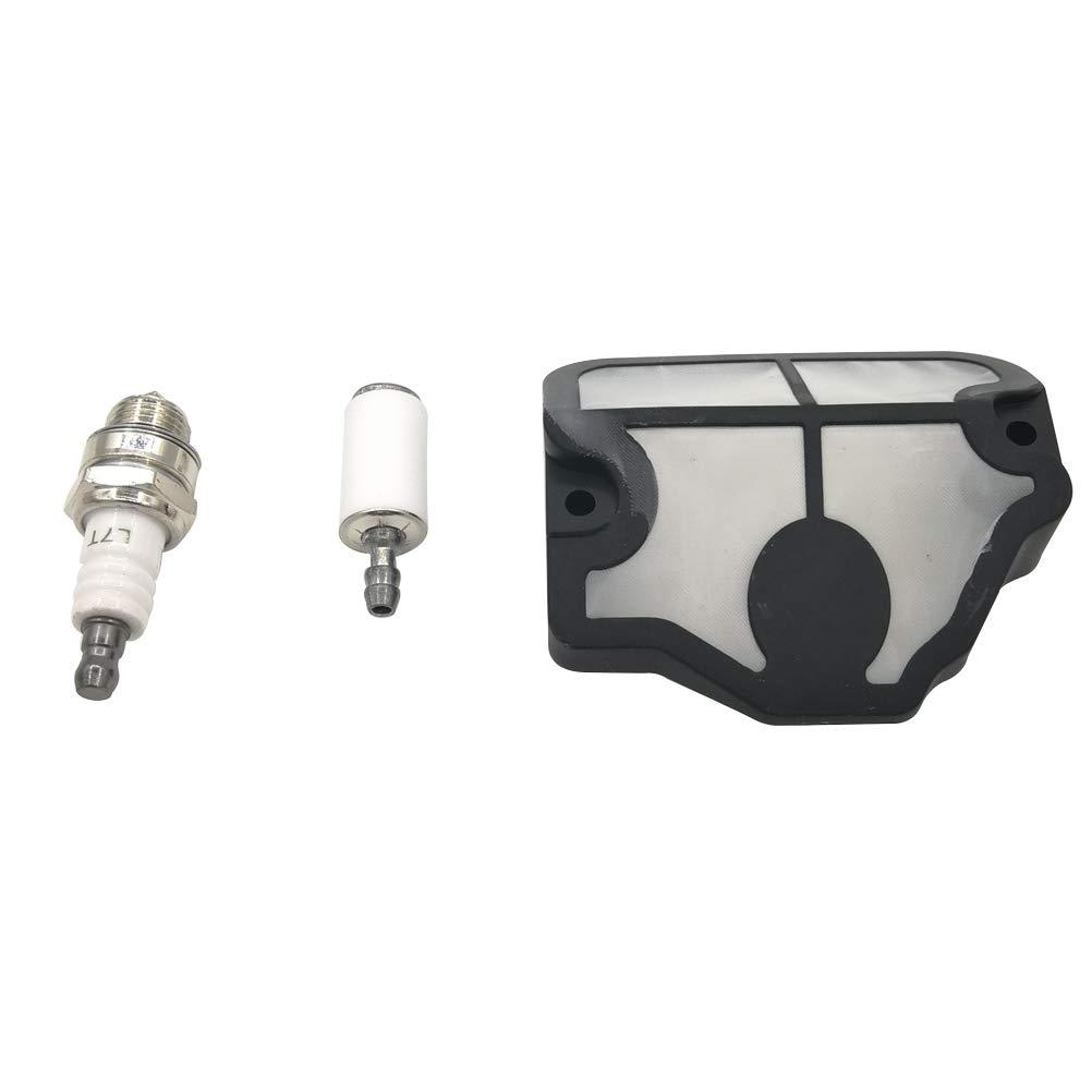 Filtre à air gas filtre à carburant Bougie d'allumage kit de service pour Husqvarna 3641136le 137137e 141141le 142142e tronçonneuse Shioshen