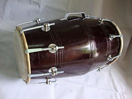 DHOLAK DRUMS~18 BOLT TUNED~MADE WITH MANGO WOOD~DHOLKI~YOGA~BHAJAN~KIRTAN~MANTRA by SAI MUSICAL