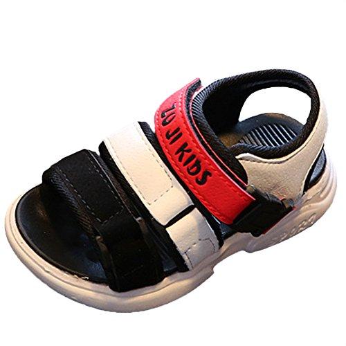 Scothen Sandalias playa verano Cerrado zapatos para caminar ultraligero calzado transpirable planas unisex niños de las muchachas de los niños cómodos del deporte aire deslizadores sandalias Red