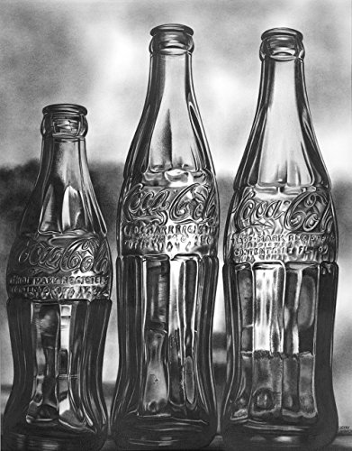 Coke Bottles by Pencilworks Studio- Pencil Drawings by Jerry Winick