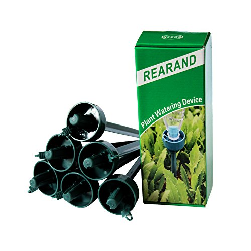 REARAND Plant Automatic Drip Watering Self Watering System Watering Spikes with Adjustable Flow Rate for Vacation Plant Watering (Packing 6) by REARAND