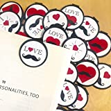 I Love Mustaches Bookmarks - 36 Bulk Bookmarks for Kids girl's boys- School Student Incentives – Library incentives – Reading Incentives - Party Favor Prizes - Classroom Reading Awards!