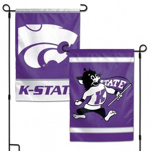 NCAA Kansas State University Wildcats 12x18 Inch 2-Sided Outdoor Garden Flag Kansas State University