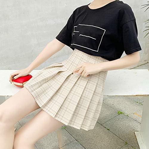 MIBKLPG Rokken Voor Vrouwen Plaid Kawaii Mini Rok Harajuku Empire Casual Student School Uniform Rokken Xing