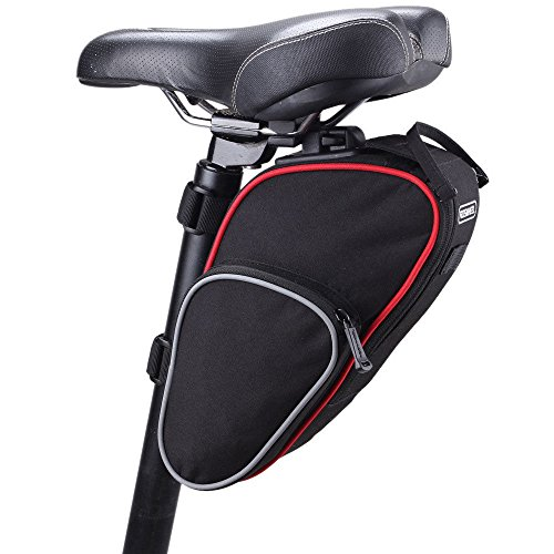 Cycling Seat Pouch Bicycle Tail Rear Storage Bike Saddle Tube Bag (Honda Oval Mufflers)