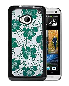 Kate Spade Green Floral Durable High Quality HTC ONE M7 Phone Case