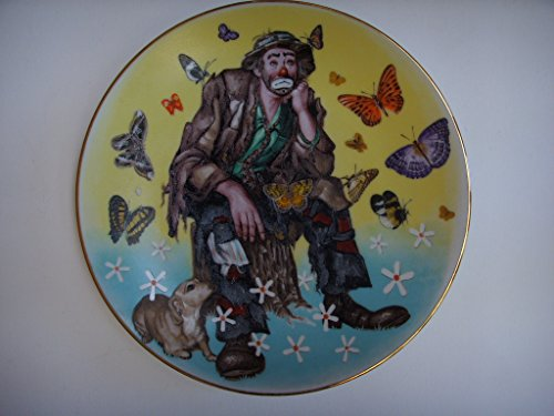 """D.L. Rusty Rust Plate II of IV Flambro Emmett Kelly, Jr. Decorative Porcelain Plate 8.5"""" Limited Edition 1991 Vintage Collectible ;Spring"""