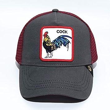 QQYZ Gorra De Béisbol Animal Cabeza De Águila Bordada Gorra De Red ...