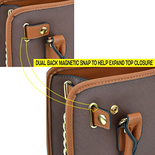 Padlock Women's Designer Bags Coffee W Top 6892 Handle Handbag Handbags Purse Satchel Belted Wallet 02 matching Simple Color Shoulder Dasein Matching Bag wtdBq5t
