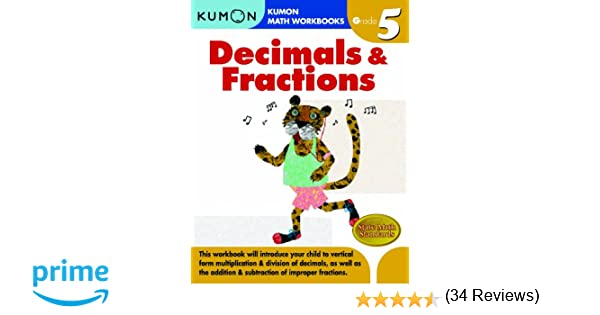 Math Worksheets free printable math worksheets 5th grade : Grade 5 Decimals & Fractions (Kumon Math Workbooks): Kumon ...