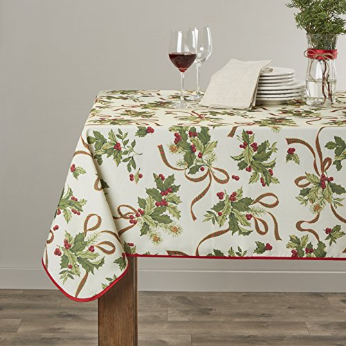 Violet Linen Euro Seasonal Oblong/Rectangle Tablecloth, 60
