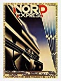 Iposters Nord Express Art Deco Travel Poster Print New - Approx 40 X 30 Cms (15.5 X 11.5 Inches)