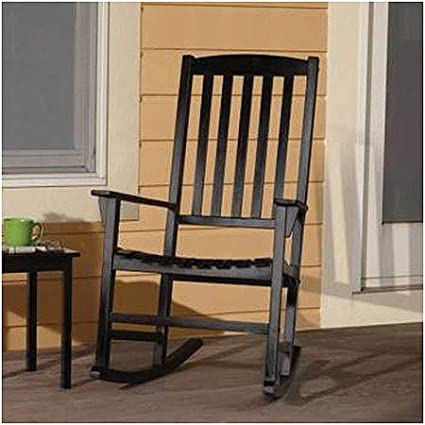 Mainstays Outdoor Rocking Chair, Black (Black)