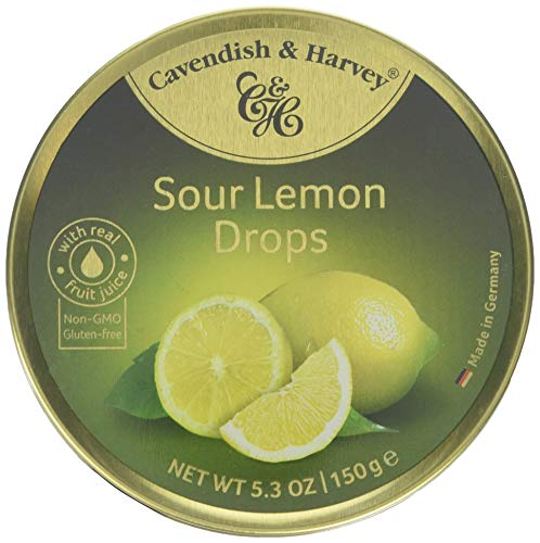 (Cavendish And Harvey Candy (3 Pack) Fruit Hard Candy Tin 5.3 Ounces Imported German Candy (Sour Lemon Drops))
