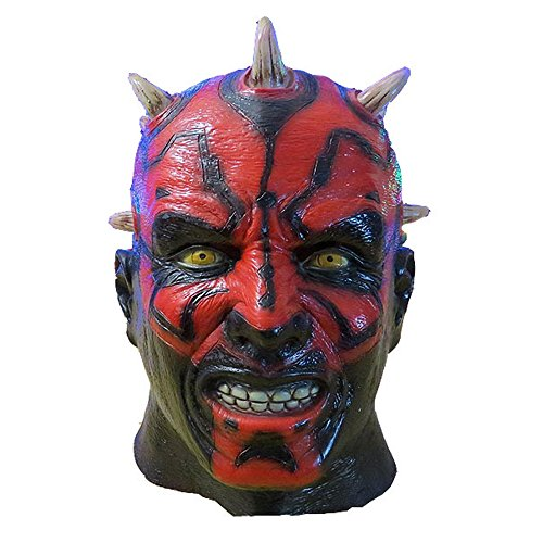 [Fancy Costumes Mask Red Black Movie Cosplay Mask Halloween Supply] (Easy Movie Fancy Dress Costumes)