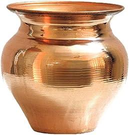 Ankita Gemstones Copper Vessel Kalash Tambya Lota for Pooja