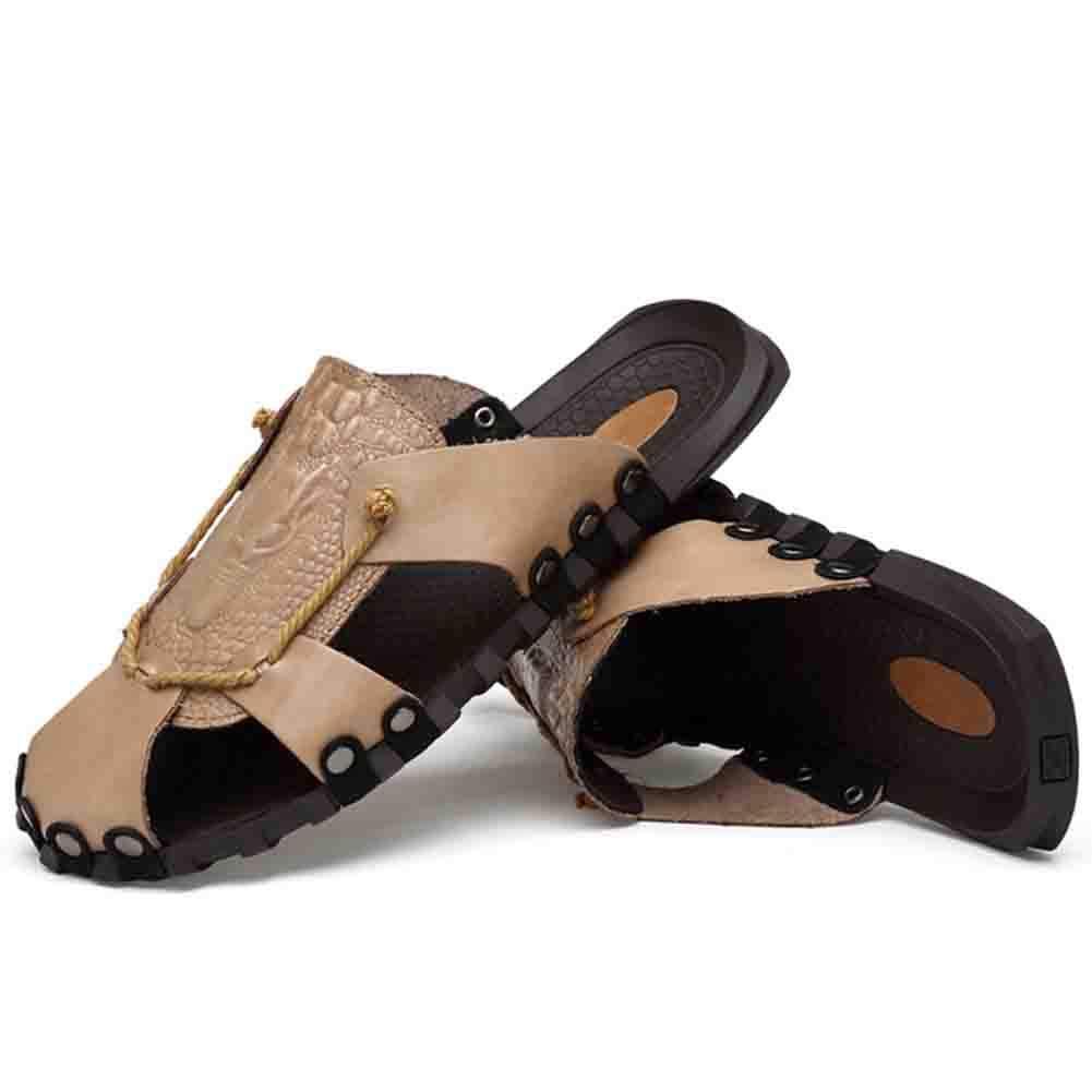 Unbekannt Männer Komfort Baotou Sandalen Weichen Casual Komfort Männer Atmungsaktiv Rutschfeste Abriebfestigkeit Schuh,Gray,42 Gray 2ac342
