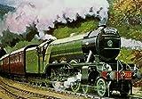 Flying Scotsman Steam Railway Train Retro Vintage