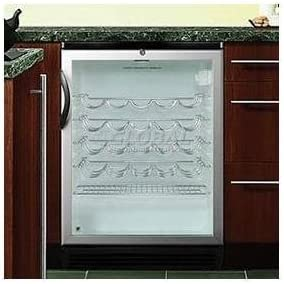 Glass//Black Summit SWC1875B Wine Chiller Beverage Refrigerator