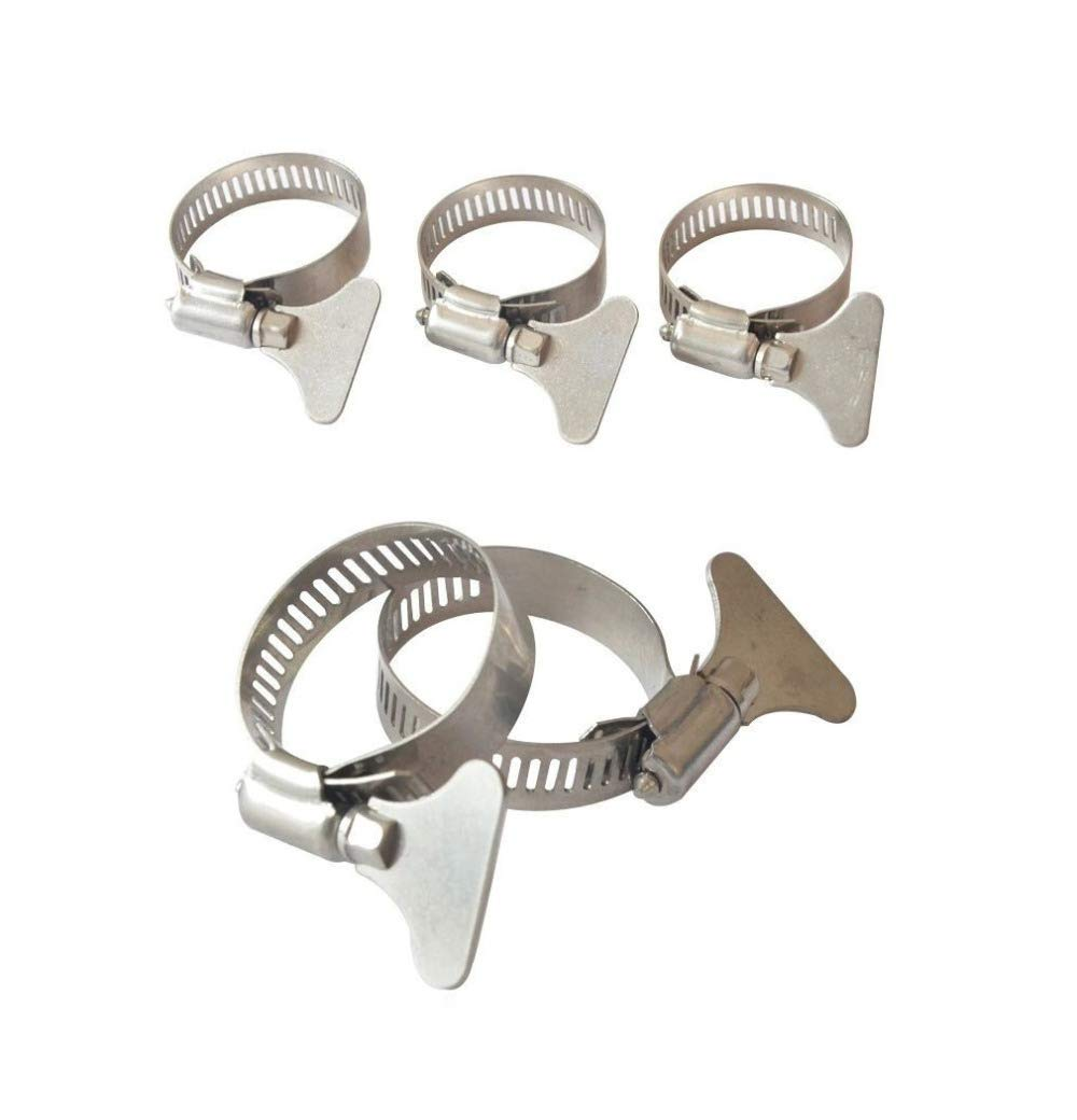 Blue-Ocean-11-20Pcs/Lot Premintehdw 304 Stainless Steel Hose Collar Clamp Sleeve Pipe Clip With Hand Adjustment key