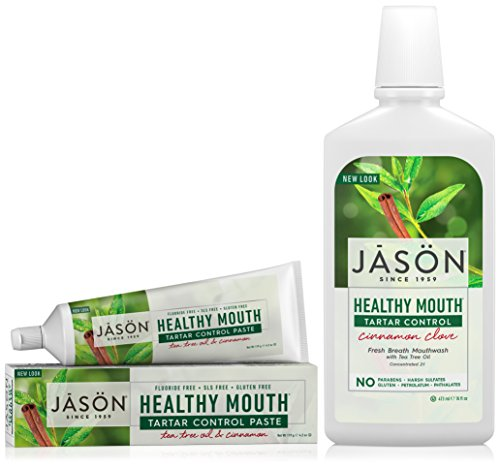 Jason Healthy Mouth Toothpaste, Tea Tree Oil & Cinnamon with Bacteria-Fighting (Jason Healthy)