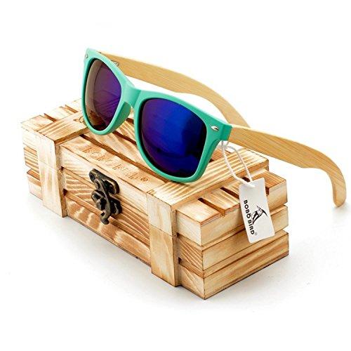 JapanX Bamboo Sunglasses & Wood Wooden Sunglasses for Men Women, Polarized Lenses with Gift Box – Wooden Vintage Wayfarer Sunglasses - Bamboo Wood Wooden Frame – New Style Sunglasses (A2 - Sunglasses Mens Nordstrom