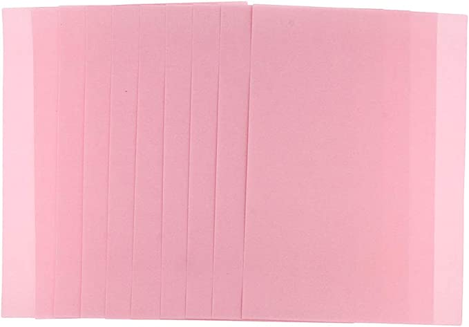 SM SunniMix 10 Sheets Sand Paper Fine Texture Kids Toddler Sketch Graffiti Painting Paper Supplies Pink for Wet and Dry Media 14.96 x 10.24 inch