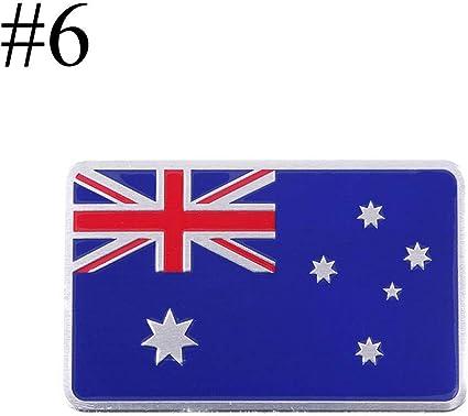 1 Unids Car Styling 3D Aleación De Aluminio Italia Alemania Francia Rusia Rusia Australia Inglaterra Suiza España Mapa Bandera Nacional Etiqueta Engomada Del Coche: Amazon.es: Coche y moto