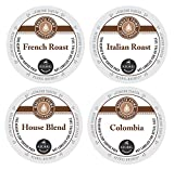 Barista Prima K Cup Mix Bundle, Includes 24 French Roast 24 Italian Roast 24 House Blend and 24 Colombia K Cups for Keurig Brewers. 96 Count Total.