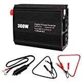[Sale Price]Microprocessor iRULU Portable 300W Power Inverter DC 12V To 110V AC Car Converter With 4.2A/21W Dual USB Usb Charging Ports and Charger for Laptop,Smartphones,PSP and DVs -Black