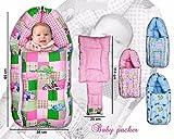 Kuber Industries 3 In 1 Baby Bed Cum Bedding Set/ Baby Carrier/ Sleeping Bag (KI3451)