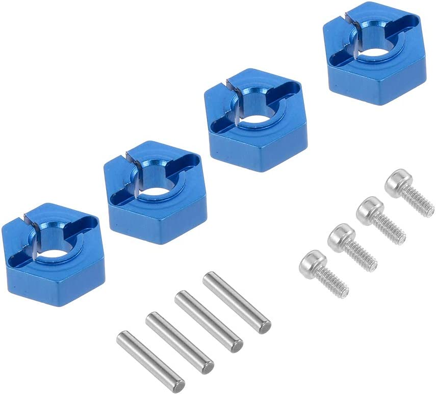 Globact 4pcs 1//10 12mm Aluminum Wheel Hex Nuts with Pins Screws for RC Car 1//10 Traxxas Hsp Redcat Rc4wd Tamiya Axial SCX10 D90 Hpi LRP WLtoy RC Car