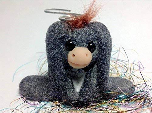 OOAK Handmade Donkey Ornament, inspired by Nestor The Long Eared Donkey Nativity, Christmas