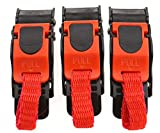 3 X Motorcycle Plastic Helmet Quick Release Speed Clip Chin Strap Pull Buckle