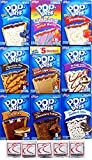 9 Pack! The Ultimate Pop Tarts Variety Pack 9 Flavors - Bundle of 9 Boxes, 1 of Each Flavor.