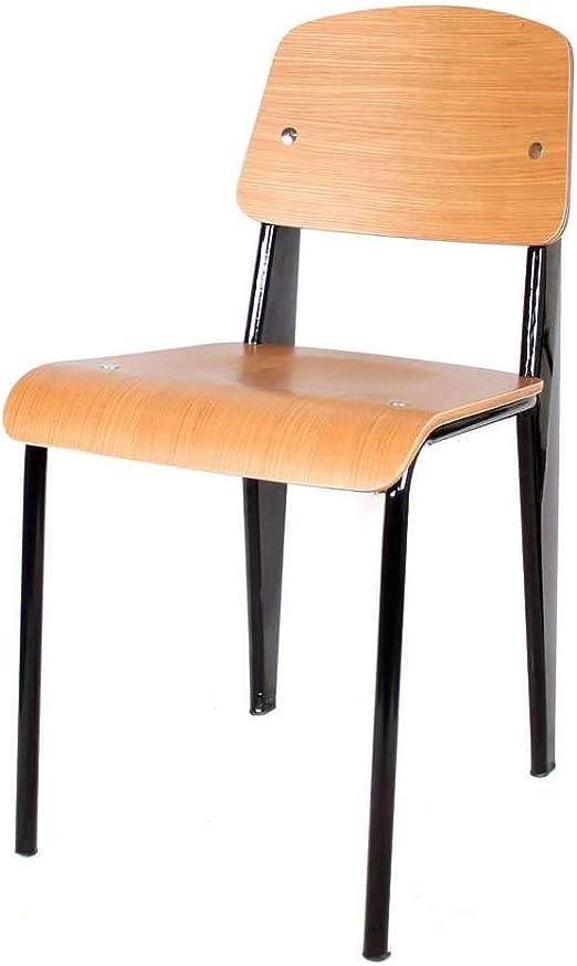 sillas cocina madera y metal