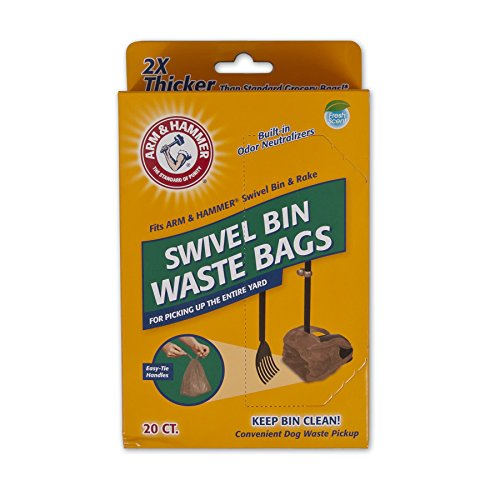 Arm & Hammer Swivel Bin Waste Bags, 20 Count, 1 Pack from Petmate