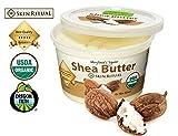 Unrefined Organic Shea Butter by Skin Ritual - USDA Certified Organic - 16 fl oz by Skin Ritual