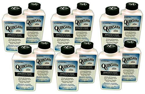 (Quinsana Athlete's Foot Anti-fungal Powder - Twelve 3-oz Bottles )