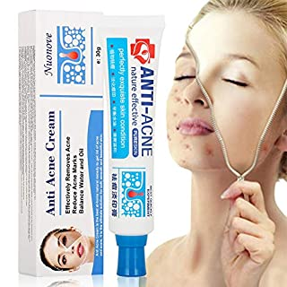 Acne Scar Remover Cream, Acne Remover Cream, Acne Treatment Cream, Advanced Acne Scar Removal Cream, All Natural | Goes On Clear | Works Under Makeup | Quickly Reduces Blemishes, 30g
