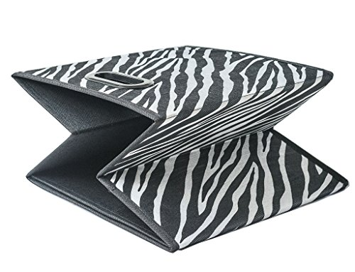 Prorighty [6 Pack, Zebra Pattern] Storage Bins, Containers, Boxes,