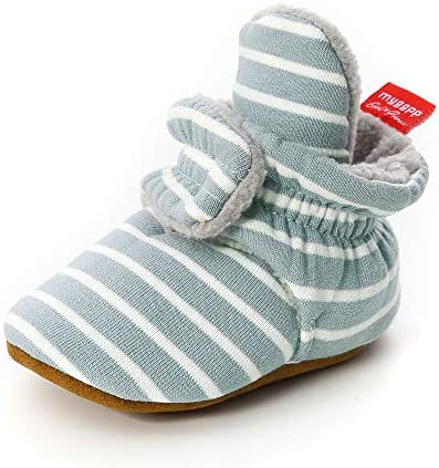RVROVIC Fleece Booties Newborn Slippers