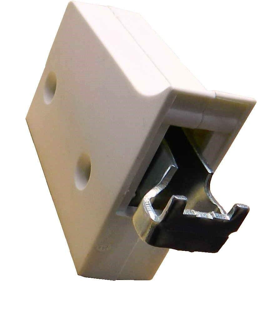 Pair of White Kitchen Cabinet Hangers for Wall Cupboards Units 2 Way Adjustable CEN034 CW