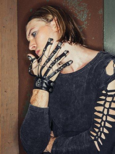 Devil Fashion Herren Shirt Top Knoten-Design Gothic Visual Kei schwarz Pulover Usedlook