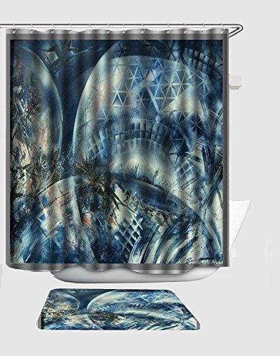 EGood Space Balls Art QuotShower Curtain 60x72 Inch Doormat 157x236