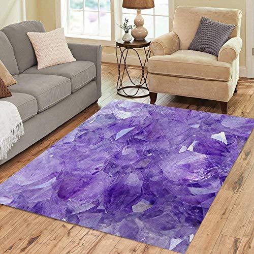2' Pink Crystal - Pinbeam Area Rug Purple Crystal Amethyst Pink Gemstone Stone Gem Jewel Home Decor Floor Rug 2' x 3' Carpet