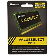 Corsair 4 GB DDR3 Laptop Memory CMSO4GX3M1A1333C9
