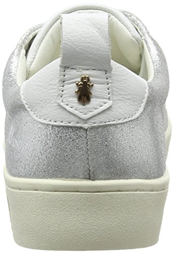 Metallic London Womens FLY Sneaker FLY Maco833fly London Silver q0wxC1