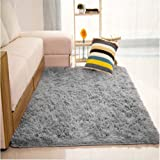 Generic Fluffy Rugs Anti-Skid Shaggy Area Rug Dining Room Home Carpet Floor Mat 80X120CM (Grey)