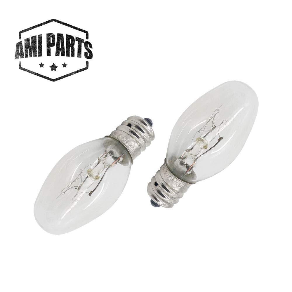 AMI PARTS 22002263 Dryer Drum Light 10w 120v Bulb Replacement Part Compatible with Whirlpool Kenmore Dryers(2pcs)